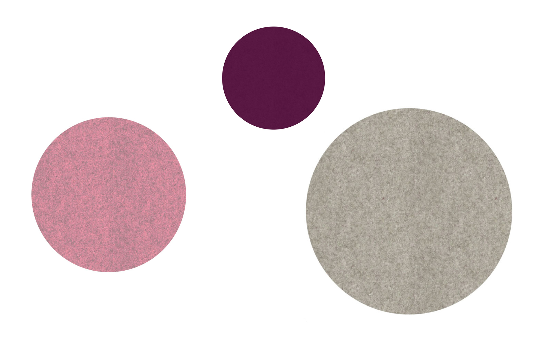 Filz-Pinnwand Dot Farbkombinationen