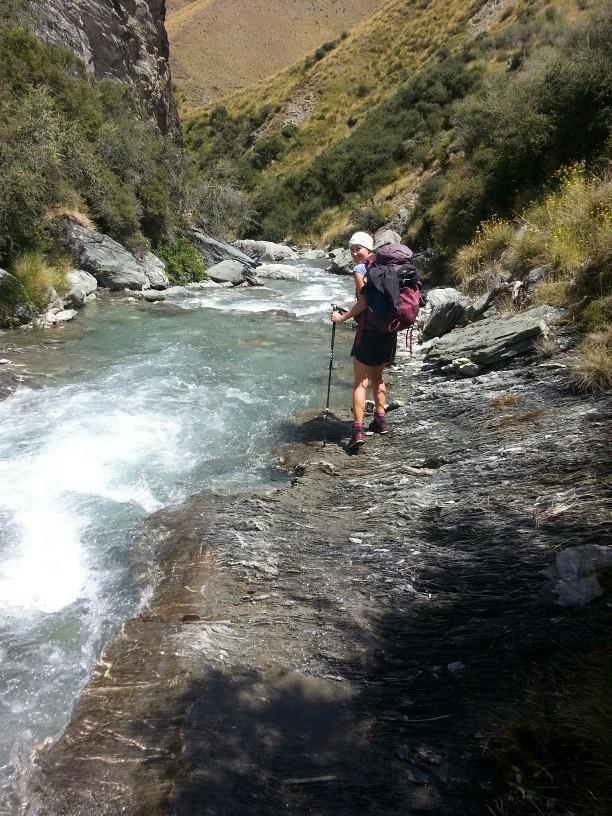 Weg durch den Arrow River