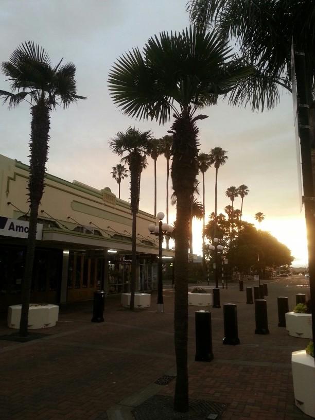 Sonnenuntergang in Napier