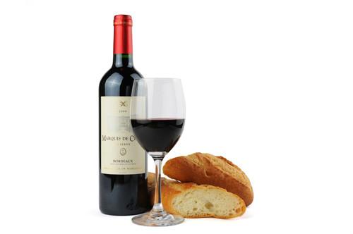ワインとフランスパン