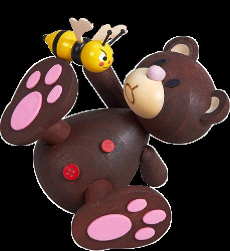 Teddy, Bär, Teddybär, Holz, Biene, Tatzen, Geschenk, niedlich