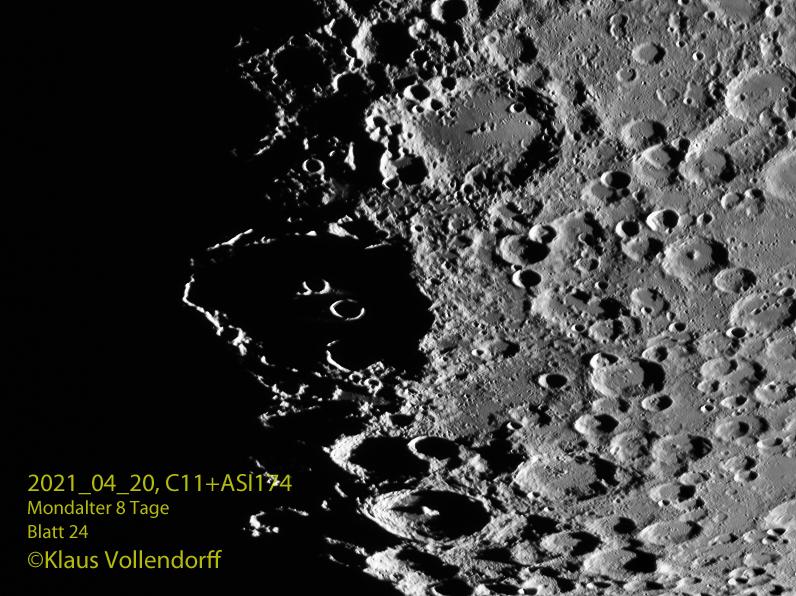 Sonnenaufgang Krater Clavius