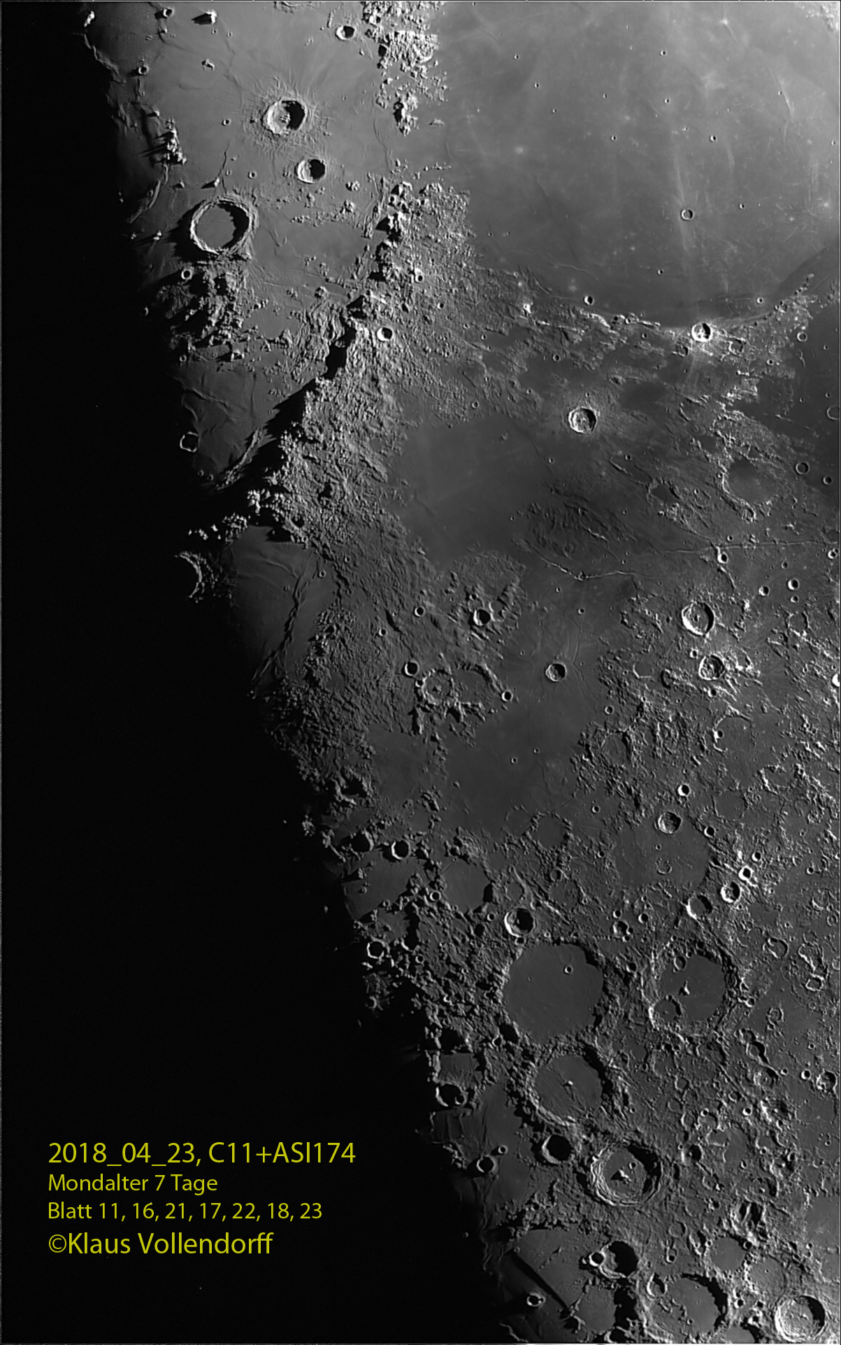 Montes Apenninus bis Ptolemaeus