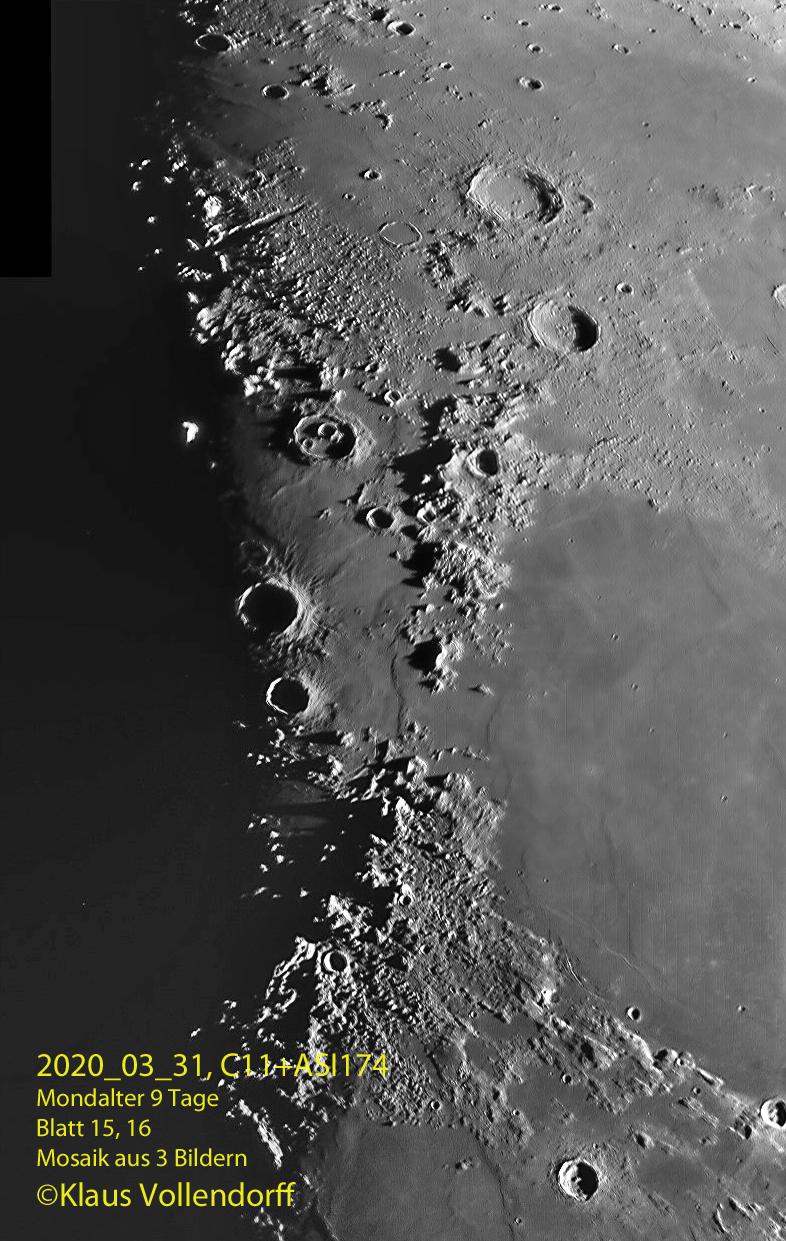 Montes Apenninus, Montes Caucasus, Aristillus, Autolycus
