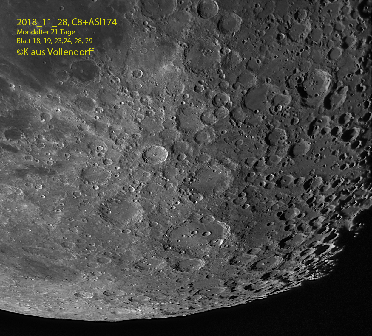 C8, Südpol, Clavius, Tycho