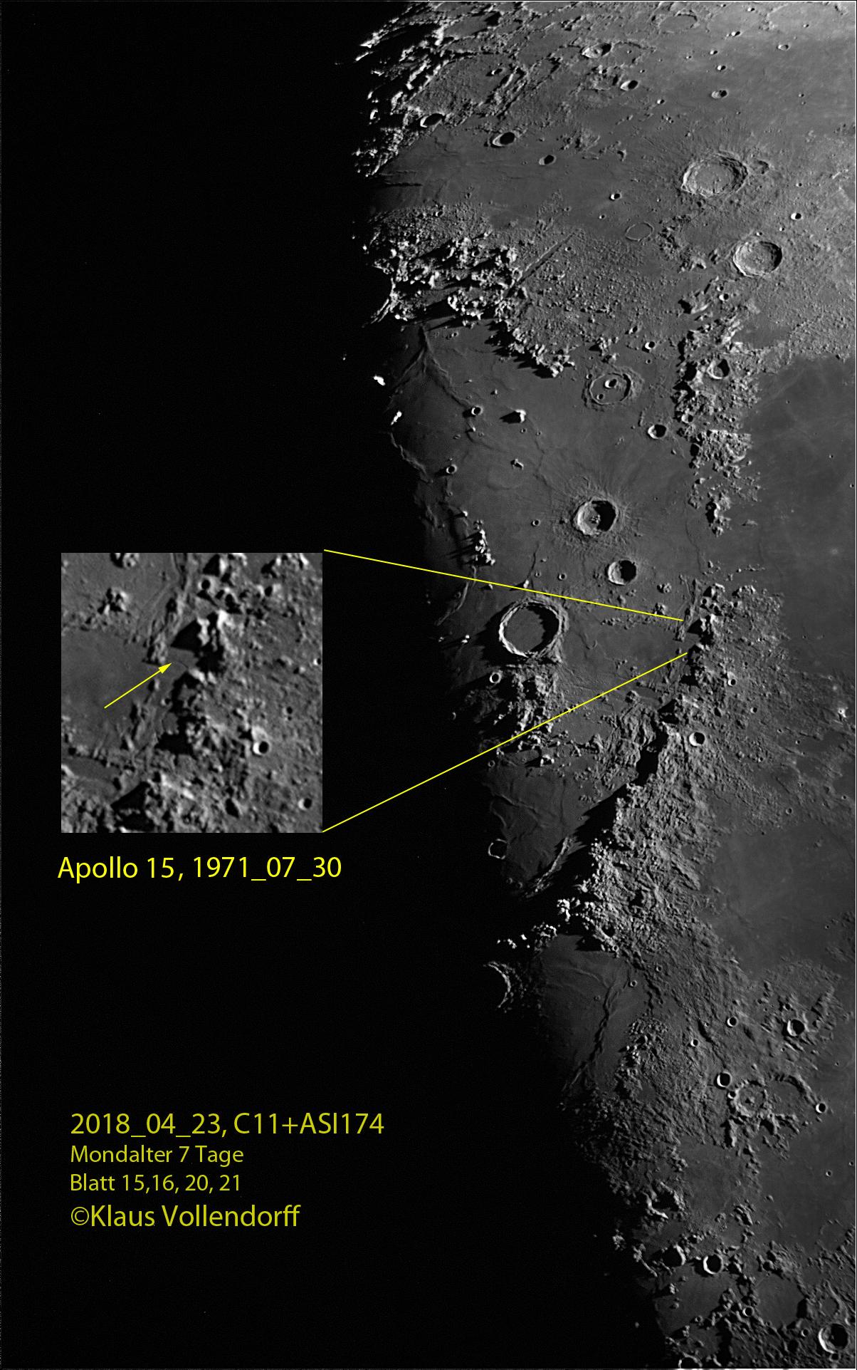 Montes Apenninus, Apollo 15