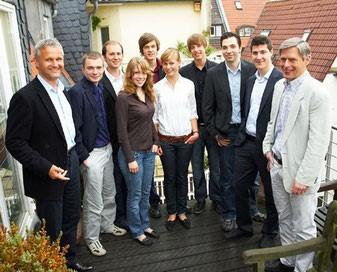 Das erste Team der b:s:c mit seinen Mentoren