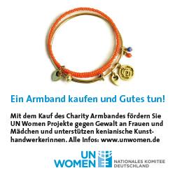 UN Women Spendenaktion Charity Armband, online-banner