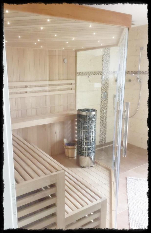 Sauna im Badezimmer - Apartment Harz-Relax
