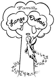Le premier logo de la famille LANGE-DUBOIS réalisé par Sonia ROME
