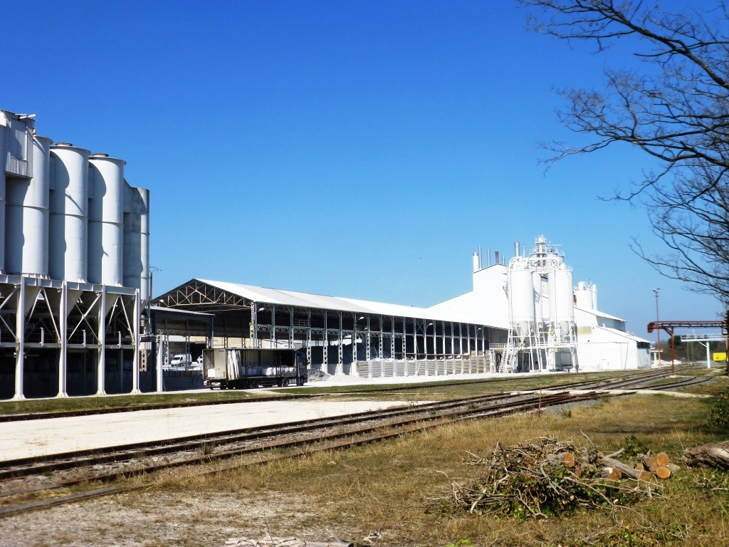 L'usine de traitement de l'argile