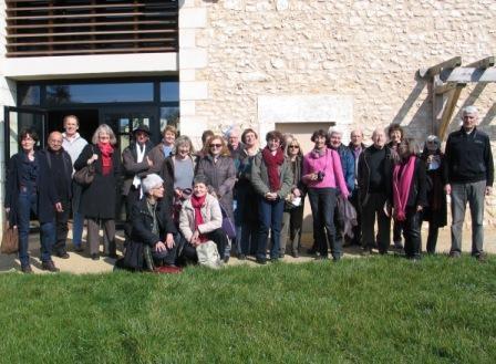 L'atelier et ses amis devant le musée