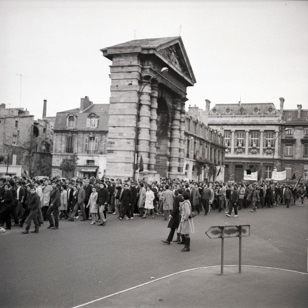 Manifestation place de la Victoire à Bordeaux