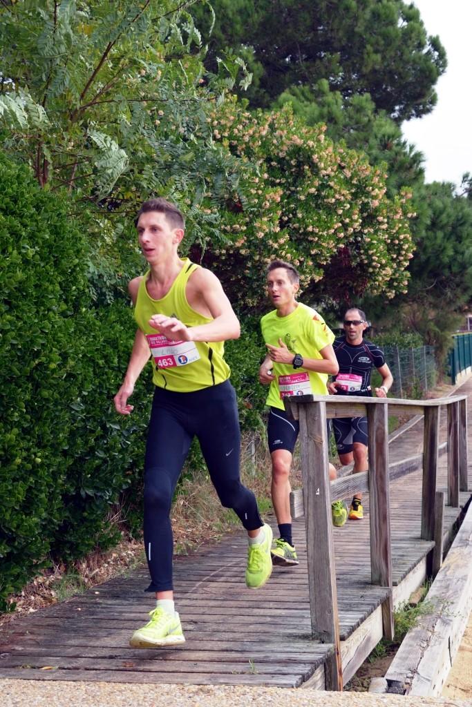 Trois valeureux compétiteurs du marathon des Cabanes 2013 (D. Sherwin-White)