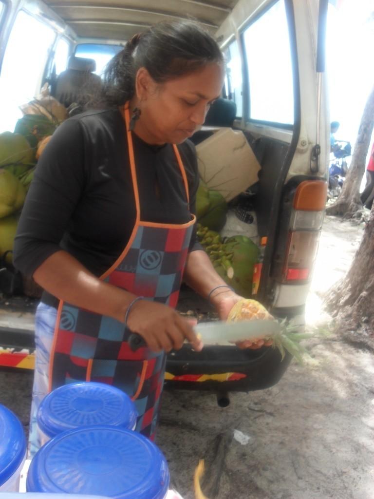 Une mauricienne sur le marché