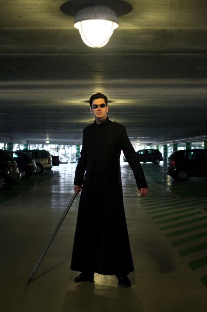 Clément en Néo du film Matrix