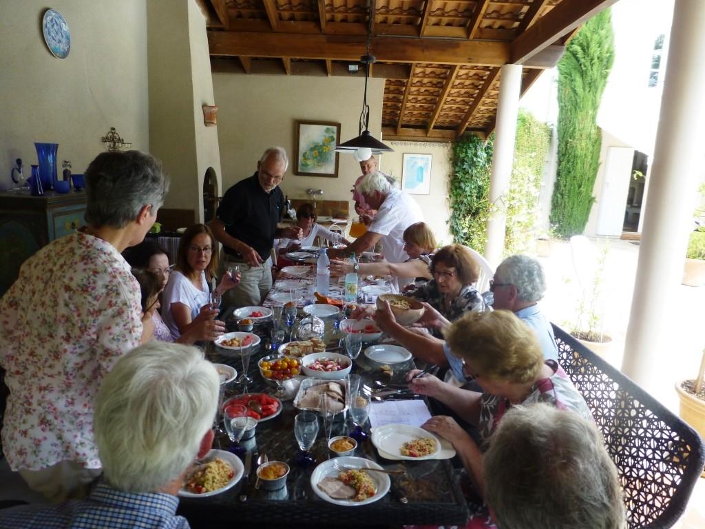 """2014 : repas """"à l'auberge espagnole"""" chez Claudine"""
