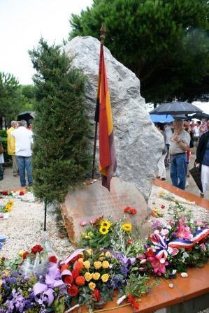 La stèle du souvenir des Républicains espagnols