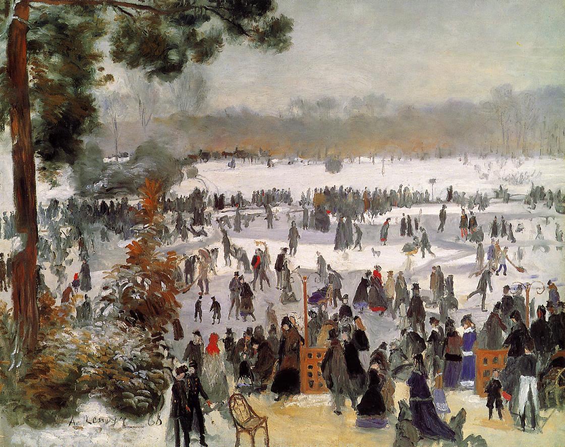 Patineurs au bois de Boulogne de Pierre-Auguste-Renoir