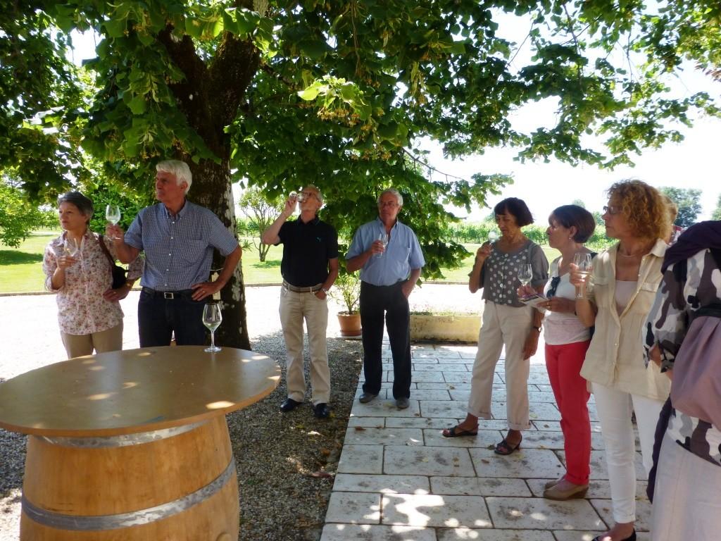 2014 : dégustation au château Turcaud dans l'Entre-deux-Mers