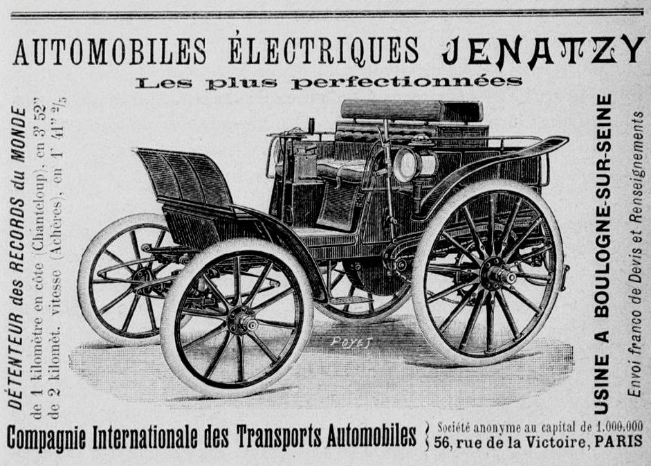Première voiture électrique en 1899