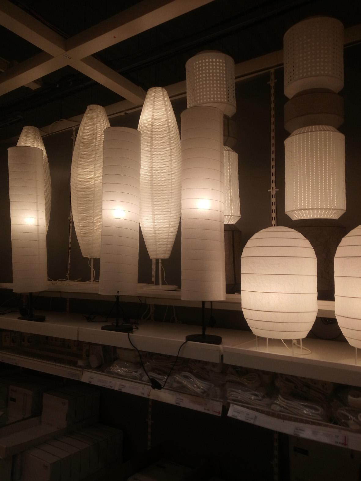 Lanternes actuelles