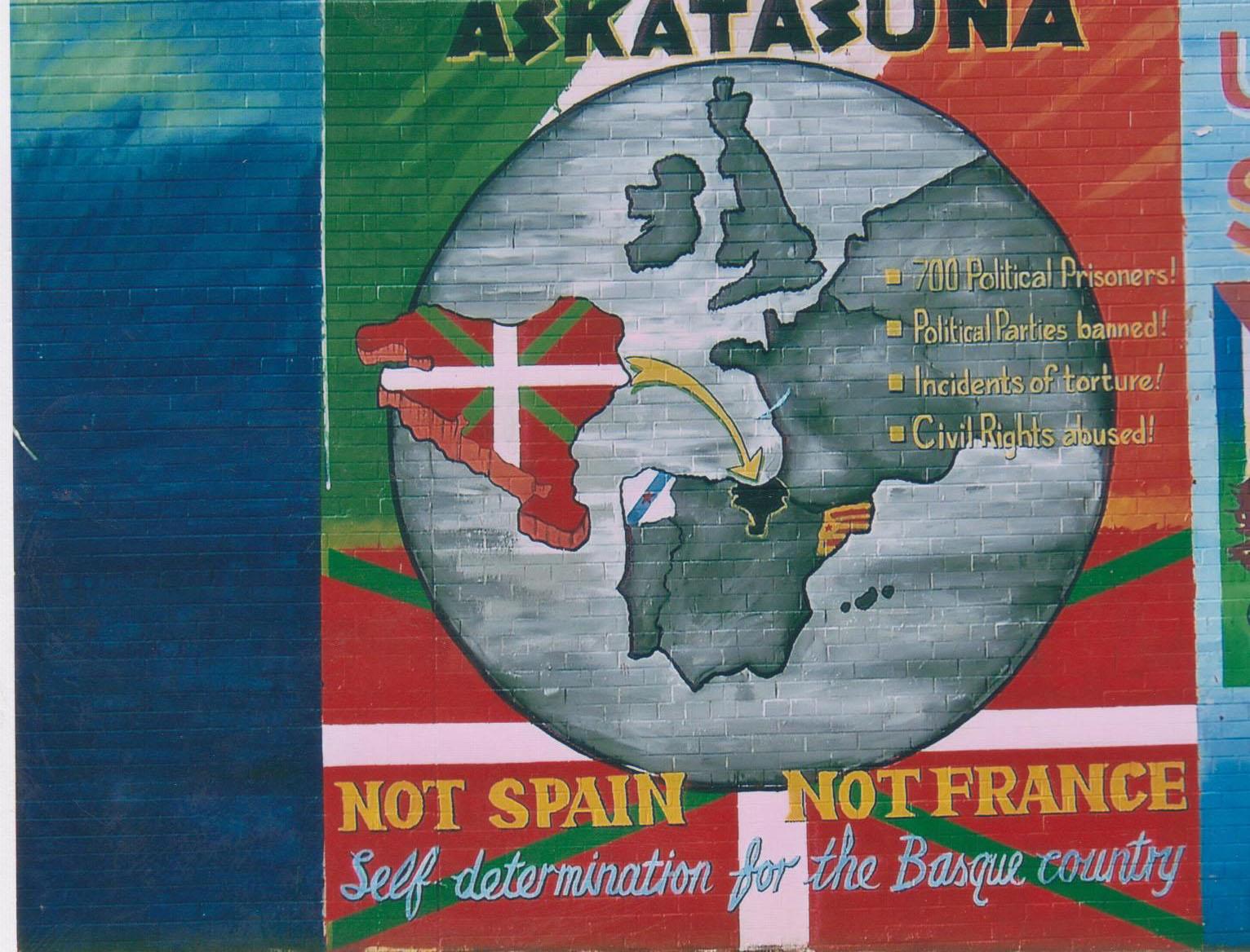 Evocation de la lutte du peuple basque pour son indépendance