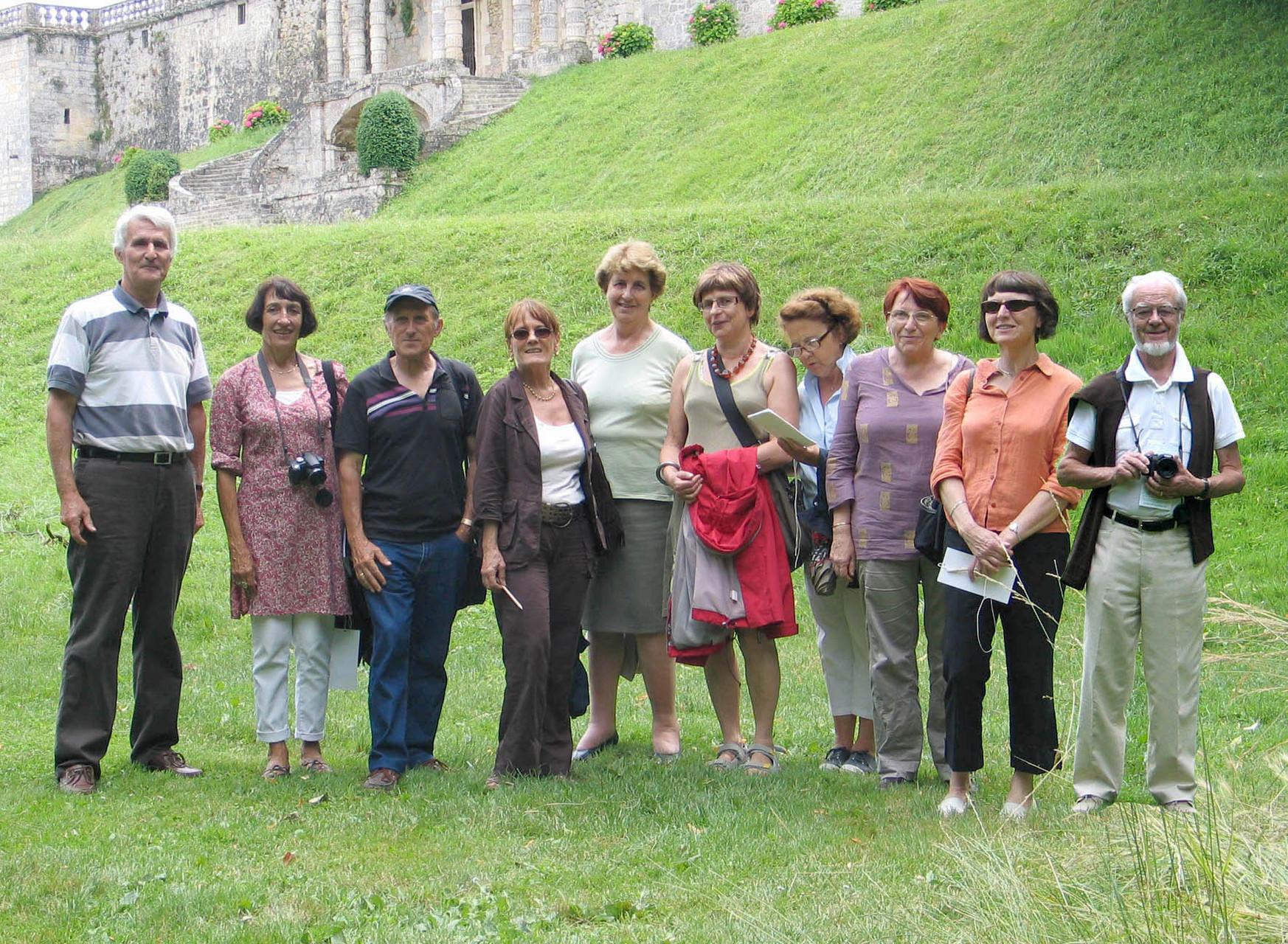 2009 : dans le parc du chateau de Vayres