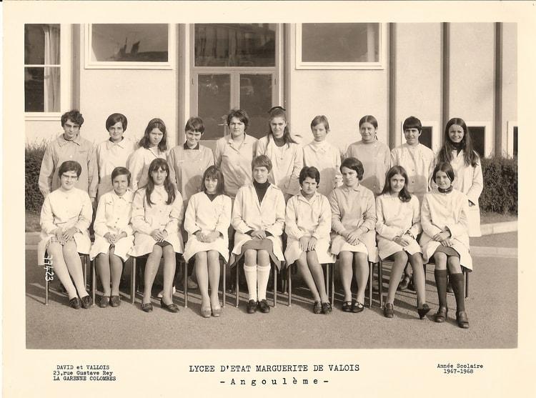 Une classe de première à Angoulème en 1968