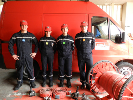 La fierté d'être pompier ( photo A. Manuel)