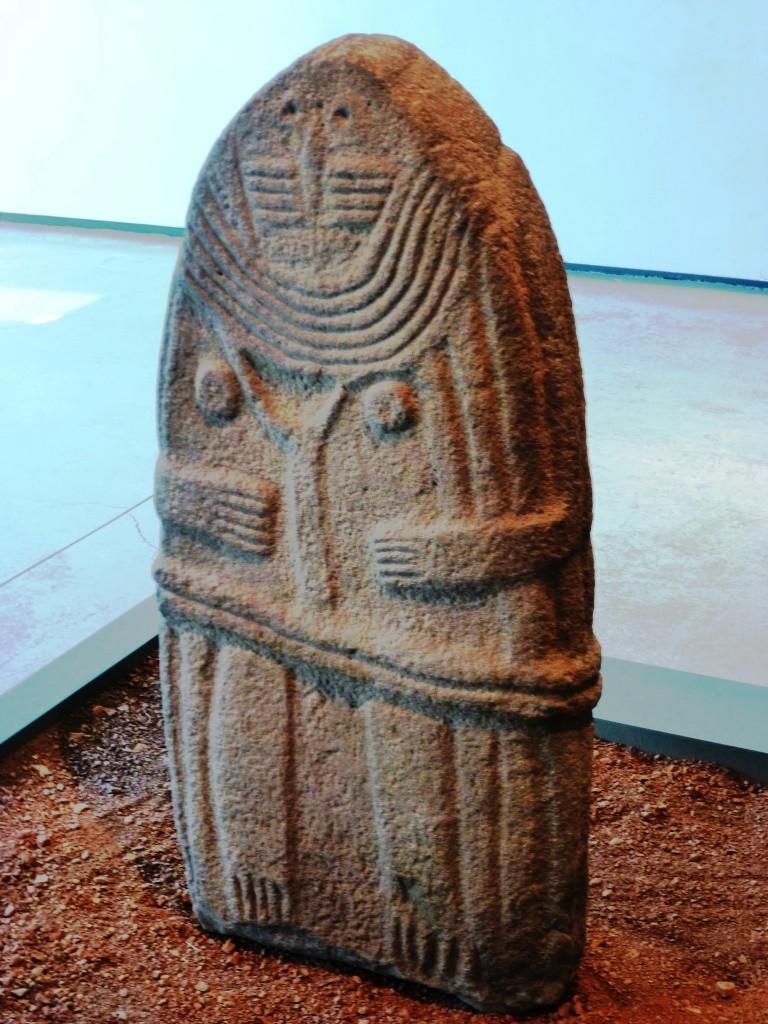 Statue-menhir de l'Aveyron qui a inspiré Soulages