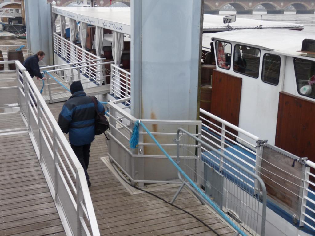 Départ sur la péniche Royal