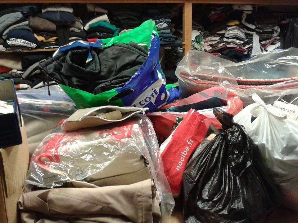 Collecte et préparation des sacs pour la prochaine maraude