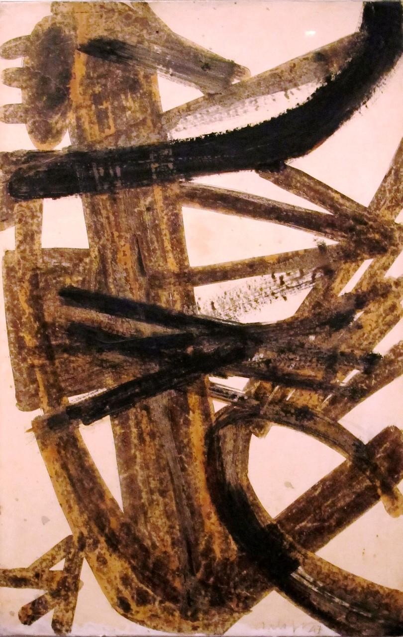 Brou de noix, expression précoce du peintre