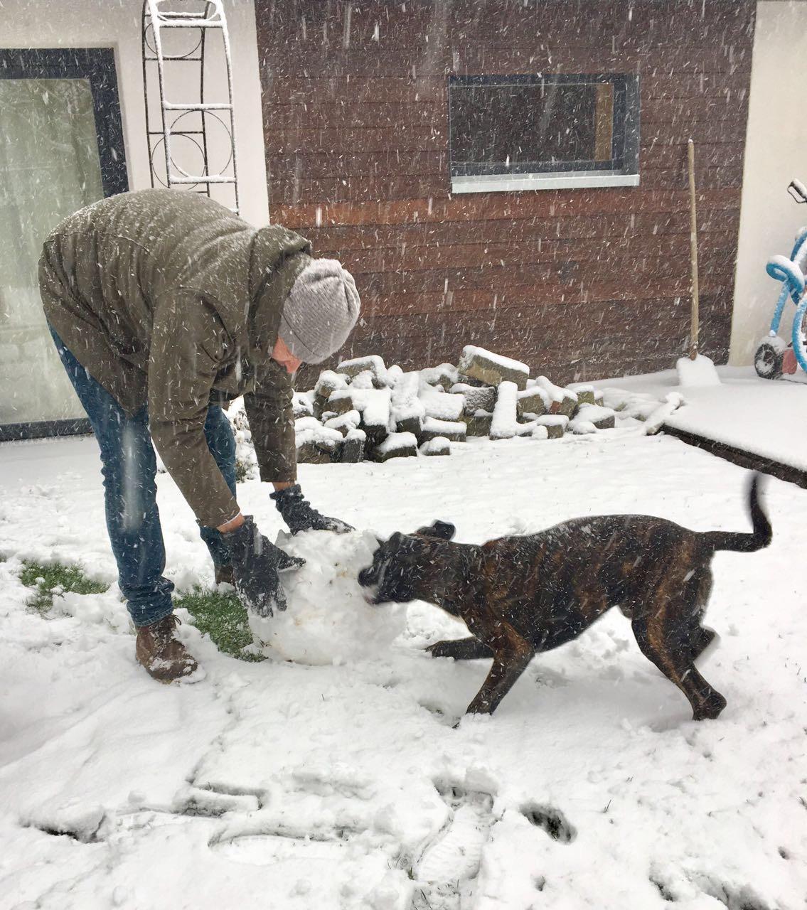 mein erster Schnee...