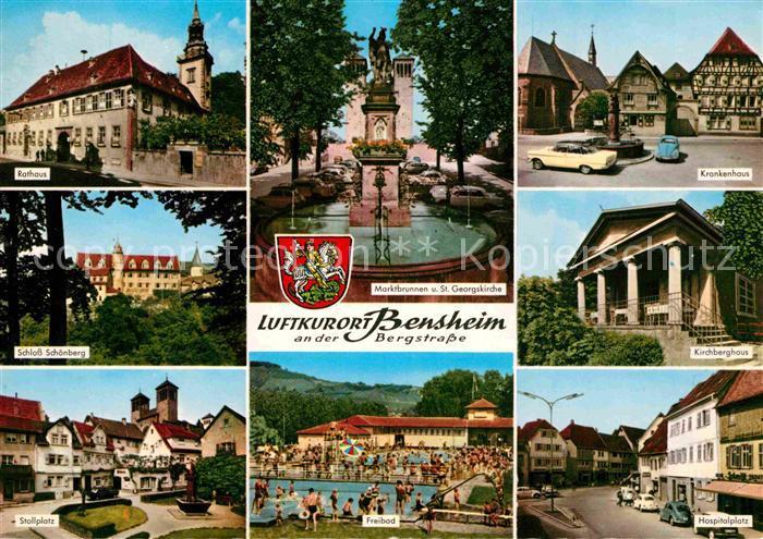 Bensheim an der Bergstraße, ist eine Stadt im Süden von Hessen, mit ca. 40.000 Einwohnern die größte Stadt des Kreises. Der Marktplatz ist seit alters her der Mittelpunkt der Stadt Bensheim. Um den Marktplatz herum befinden sich eine Reihe von Fachwerkhäu