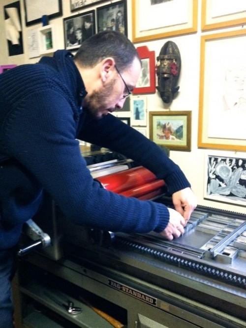 L'editore al torchio tipografico