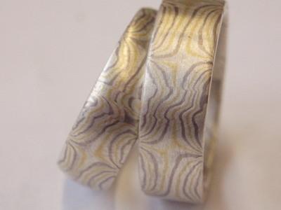 Silber-Gelbgold-Palladium-gestülpt-Sternmuster