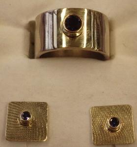 Ohrstecker in Weißgold mit Saphir (Weißgoldring mit Saphir)