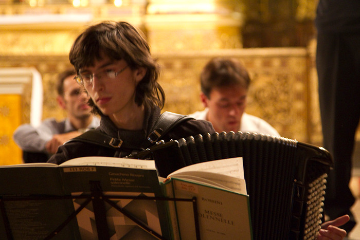 Valentin à l'accordéon