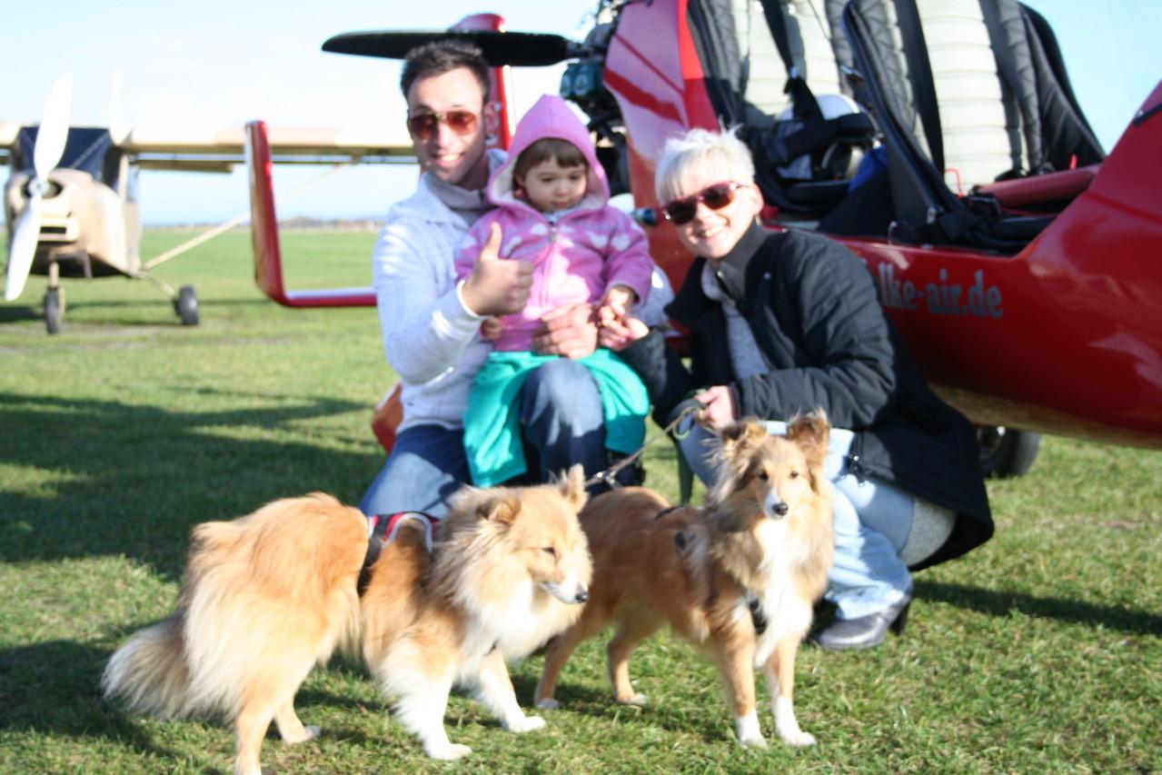 Unser kleine Margarete und unsere Kinder waren auch mit.