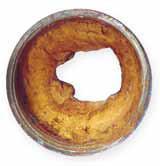 Ejemplo de Tubería afectada por el sarro, óxido y la corrosión.