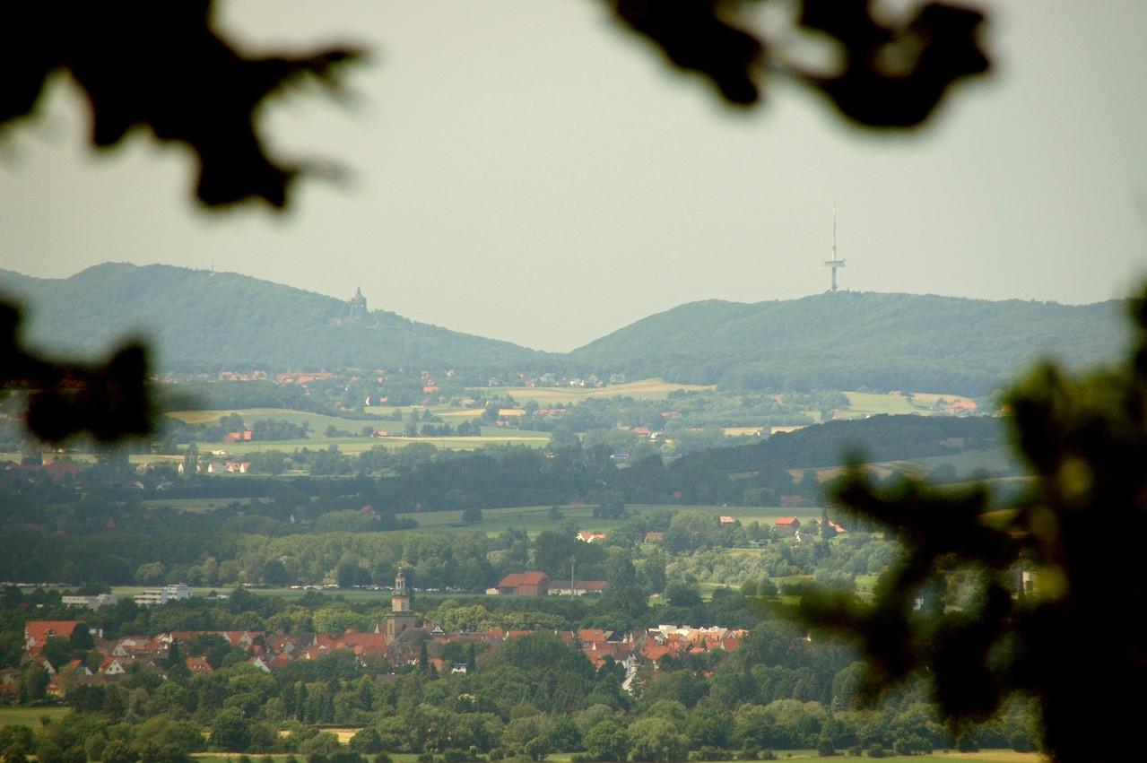 und über Rinteln bis zur Porta Westfalica.
