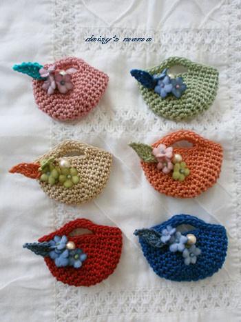 手編みニットのマルシェバッグ