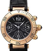 カルティエ 時計 パシャ 革ベルト 金無垢 買取価格