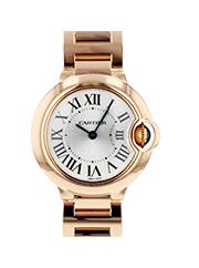 カルティエ 時計 バロンブルー  レディース 金無垢 買取価格