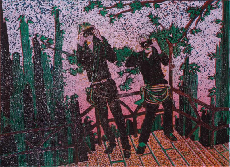 Huang Shan · 2015 · Holzschnitt