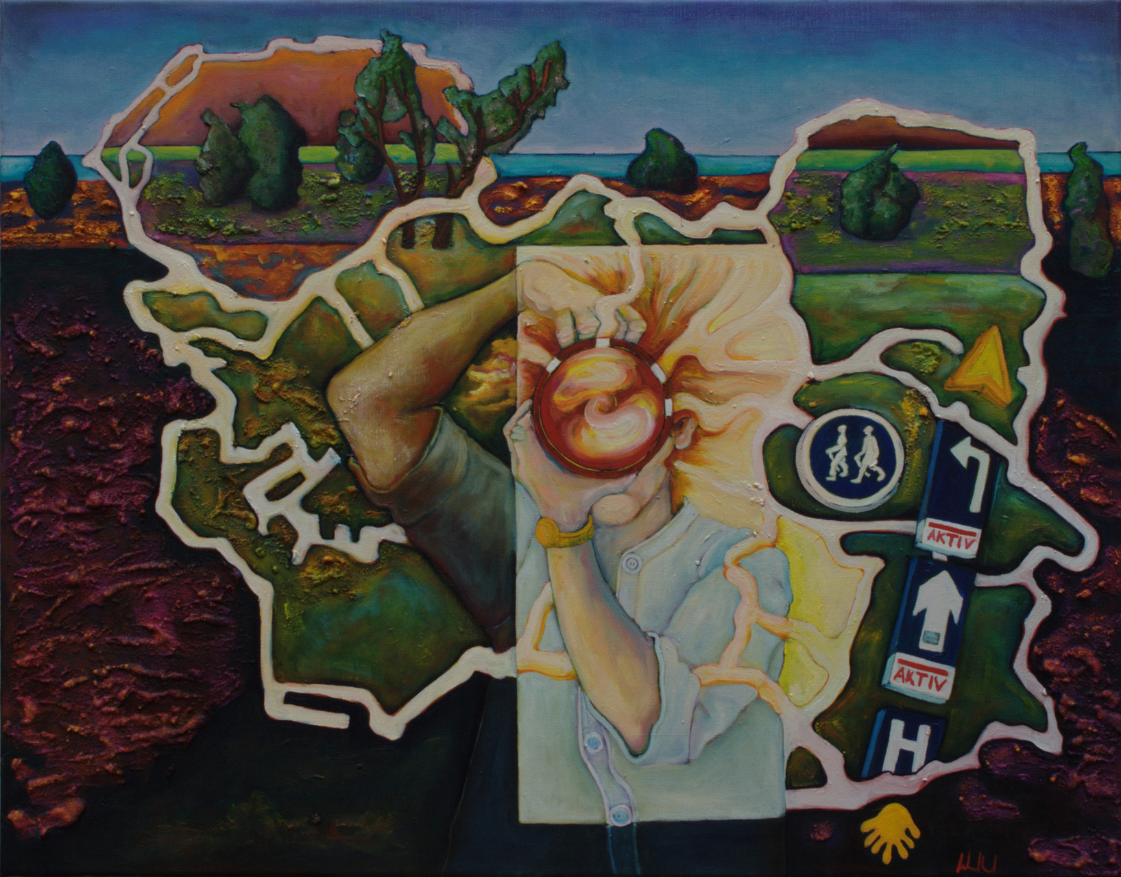 Heidewanderung · 2015 · Acryl, Öl auf Leinwand · 66 x 85 cm