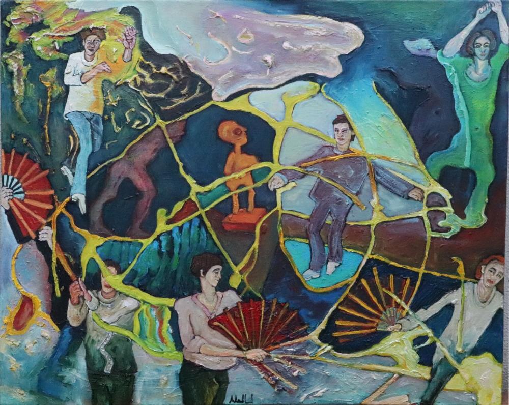 TaijiShan I · Acryl, Öl auf Nessel, 40 x 50 cm