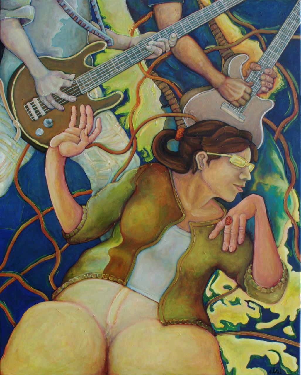 Hanna · 2014 · Acryl, Öl auf Leinwand · 100 x 80 cm